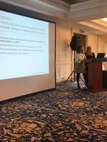 Begoña Gomez og Anette A. Grønlie fra NUBU holdt foredrag om tidlig intervensjon og implementering.