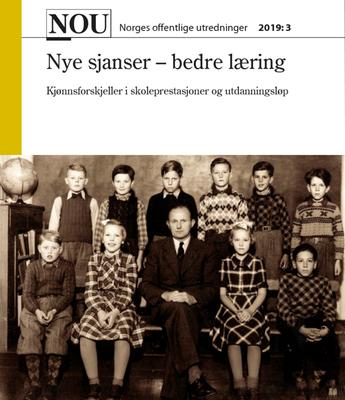 Foto: Forside Nye sjanser - bedre læring NOU 2019:3